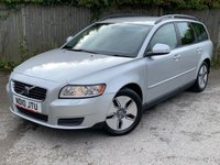 USED 2010 10 VOLVO V50 1.6 D DRIVE S 5d 109 BHP MOT 02/20 SILVER MET WITH BLACK CLOTH TRIM. 16 INCH ALLOYS. COLOUR CODED TRIMS. PARKING SENORS. CLIMATE CONTROL. R/CD PLAYER. MOT 02/20. AGE/MILEAGE RELATED SALE. P/X CLEARANCE CENTRE LS24 8EJ. TEL 01937 849492 OPTION 4