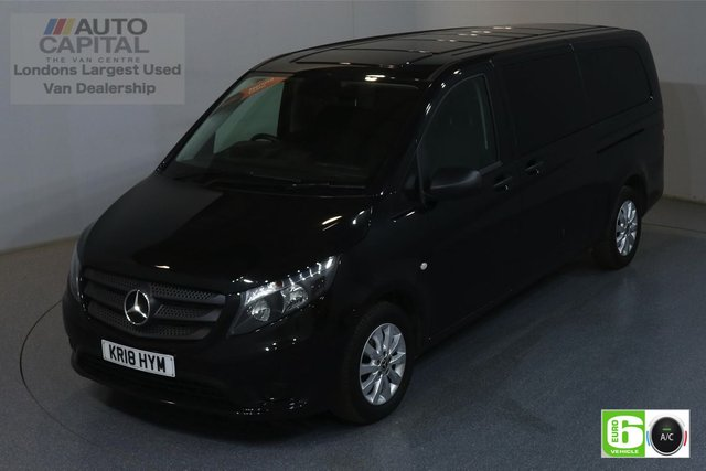 2018 18 MERCEDES-BENZ VITO 2.1 114 BLUETEC TOURER SELECT 136 BHP XLWB AUTO MINIBUS AUTO, AIR CON, 9 SEATS, REVERSE CAMERA, ALLOY WHEEL