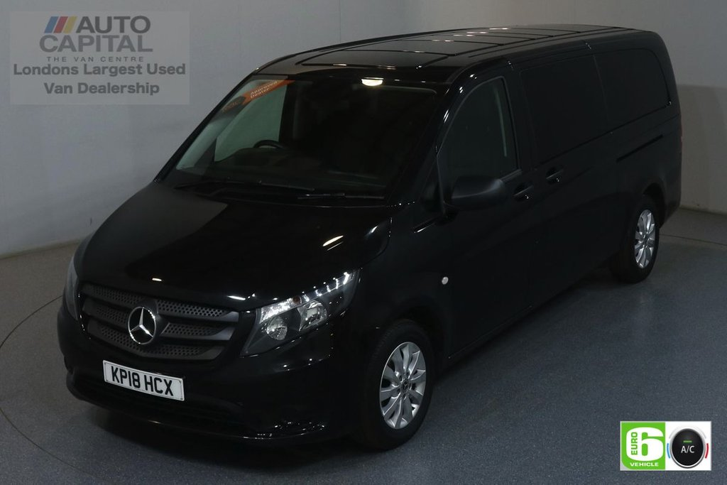 USED 2018 18 MERCEDES-BENZ VITO 2.1 114 BLUETEC TOURER SELECT 136 BHP XLWB AUTO MINIBUS AUTO, AIR CON, 9 SEATS, REVERSE CAMERA, ALLOY WHEEL