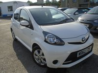 USED 2013 63 TOYOTA AYGO 1.0 VVT-I MOVE WITH STYLE 5d 68 BHP NEW MOT+NEW SERVICE