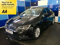"""USED 2016 16 SEAT LEON 1.2 TSI SE TECHNOLOGY 5d 110 BHP A stunning example of this highly regarded family 5 door hatchback finished in unmarked metalic black complemented with 10 spoke 16"""" alloy wheels,this car comes equiped with dab cd radio with usb/aux & media interface,digital climate control,onboard computer ,touchscreen satelite navigation ,bluetooth phone conectivity ,cruise control with speed limiter,voice control system,front & rear fog lamps ,led headlights plus all the usual refinements. Road tax is only £30 & combined ecconomy of 57.6 mpg"""