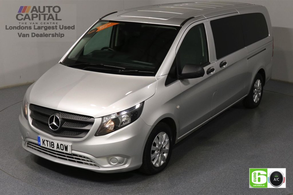 USED 2018 18 MERCEDES-BENZ VITO 2.1 114 Bluetec Tourer Select 136 BHP X-LWB Auto Minibus Finance Packages Available | 9 Seats | Air Con | Reversing camera