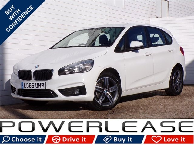 USED 2016 66 BMW 2 SERIES 1.5 216D SPORT ACTIVE TOURER 5d AUTO 114 BHP 20POUNDTAX SATNAV BLUETOOTH