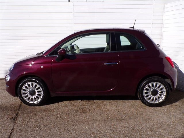 USED 2017 67 FIAT 500 1.2 LOUNGE 3d 69 BHP PANORAMIC ROOF APPS 1 OWNER