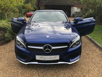 USED 2017 17 MERCEDES-BENZ C CLASS 2.1 C 220 D AMG LINE 2d 168 BHP CONVERTIBLE