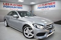 USED 2016 65 MERCEDES-BENZ C CLASS 2.1 C220 D AMG LINE 4d 170 BHP LED Headlights, Sat Nav, Full leather, DAB Radio