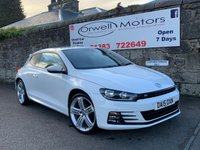 USED 2015 15 VOLKSWAGEN SCIROCCO 2.0 R LINE TDI BLUEMOTION TECHNOLOGY 2d 150 BHP LOW RATE FINANCE AVAILABLE+19 INCH ALLOY WHEELS+SATELLITE NAVIGATION+PRIVACY GLASS+HEATED FRONT SEATS