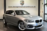 """USED 2016 66 BMW 1 SERIES 1.5 116D M SPORT [SAT NAV] 5DR 114 BHP full bmw service history -  £20 road tax Finished in a stunning glacier metallic silver styled with 18"""" alloys. Upon opening the drivers door you are presented with Alcantara/anthracite upholstery, full bmw service history, satellite navigation, bluetooth,  LED headlights, LED Fog lights, cruise control, Sports seats, Rain sensors, Connected Drive Services, parking sensors"""
