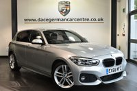 "USED 2016 66 BMW 1 SERIES 1.5 116D M SPORT [SAT NAV] 5DR 114 BHP full bmw service history -  £20 road tax Finished in a stunning glacier metallic silver styled with 18"" alloys. Upon opening the drivers door you are presented with Alcantara/anthracite upholstery, full bmw service history, satellite navigation, bluetooth,  LED headlights, LED Fog lights, cruise control, Sports seats, Rain sensors, Connected Drive Services, parking sensors"