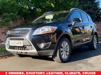 USED 2010 10 FORD KUGA 2.0 TITANIUM TDCI 2WD 5d 134 BHP 2 OWNERS, EXCELLENT SERVICE HISTORY, 1YR MOT EXCELLENT CONDITION,  HEATED LEATHER, ALLOYS, CLIMATE, CRUISE, PAN ROOF, PRIVACY GLASS, RADIO CD, E/WINDOWS, R/LOCKING, FREE WARRANTY, FINANCE AVAILABLE, HPI CLEAR, PART EXCHANGE WELCOME,