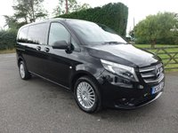 USED 2017 66 MERCEDES-BENZ VITO COMPACT 5 SEAT CREWCAB VAN 7G - TRONIC  119 CDI AUTOMATIC 2.1 CDI   190 BHP High Specification Premium 5 Seater Kombi Crewvan Full Specification Eye Catching In Black!