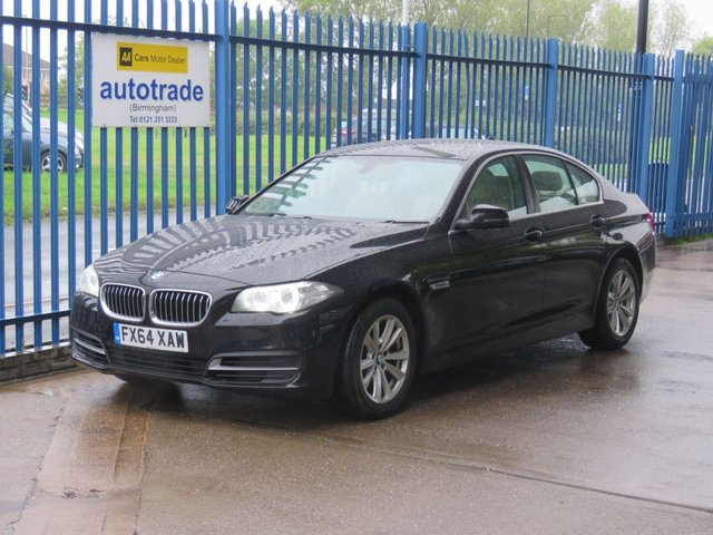 USED 2014 64 BMW 5 SERIES 2.0 520D SE 4dr Sat nav Full leather Cruise Bluetooth & audio Full Leather,SatNav,Climate Control,History