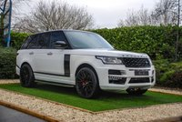 USED 2014 64 LAND ROVER RANGE ROVER 4.4 SDV8 VOGUE SE 5d AUTO 339 BHP An Exceptional Bespoke Conversion by Grandeur with Substantial Exterior Enhancements & Body Kit. Presented in Fantastic Condition with a Full Black Leather Interior, Heated / Cooled Electric Seats with Memory Function, 22 Inch Gloss Black Alloy Wheels, Panoramic Roof with Power Blind, Digital TV, HDD Satellite Navigation, Front & Rear Parking Sensors, Reversing Camera, Meridian Sound System, 10 Colour Ambient Lighting, 8 Inch Touch Screen with Voice Control and Bluetooth Connectivity