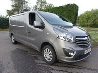 USED 2018 18 VAUXHALL VIVARO L2H1 2900 SPORTIVE L2 LWB 1.6 CDTI BITURBO S/S 125 BHP Top Of Range LWB Vivaro Sportive With Only 18000 Miles And Warranty Till June 2021, Stunning Looking Van In Graphite Grey Viewing Recommended!