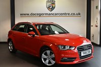 "USED 2015 15 AUDI A3 1.4 TFSI SPORT 5DR 148 BHP full service history £20 road tax Finished in a stunning red styled with 17"" alloys. Upon opening the drivers door you are presented with cloth upholstery, full service history, bluetooth, dab radio, climate control, heated mirrors, usb/aux port, air conditioning, parking sensors"