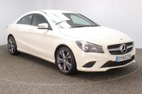 """USED 2015 65 MERCEDES-BENZ CLA 2.1 CLA200 CDI SPORT 4DR SAT NAV HALF LEATHER 1 OWNER 136 BHP Finished in a stunning calcite white styled with 18"""" alloys. Upon opening the drivers door you are presented with half leather interior, full service history, satellite navigation, bluetooth, active park assist, rain sensors, cruise control, attention assist, seat comfort package"""
