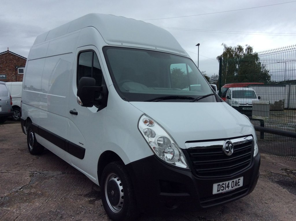 USED 2014 14 VAUXHALL MOVANO MWB 2.3 F3500 L2H3 CDTI  123 BHP MOT FREE 6 MONTHS AA WARRANTY INCLUDING RECOVERY AND ASSIST MOT BLUETOOTH ELECTRIC PACK 6 SPEED EURO 5
