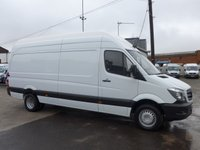 USED 2015 15 MERCEDES-BENZ SPRINTER 513 CDI LWB EXTRA HI ROOF, 130 BHP [EURO 5]