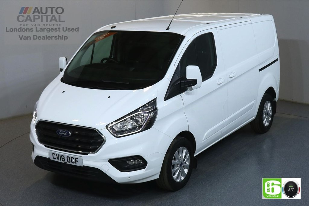 USED 2018 18 FORD TRANSIT CUSTOM 2.0 300 LIMITED L1 H1 129 BHP EURO 6 ENGINE AIR CON, F-R PARKING SENSORS, ALLOY WHEEL, HEATED FRONT SEATS