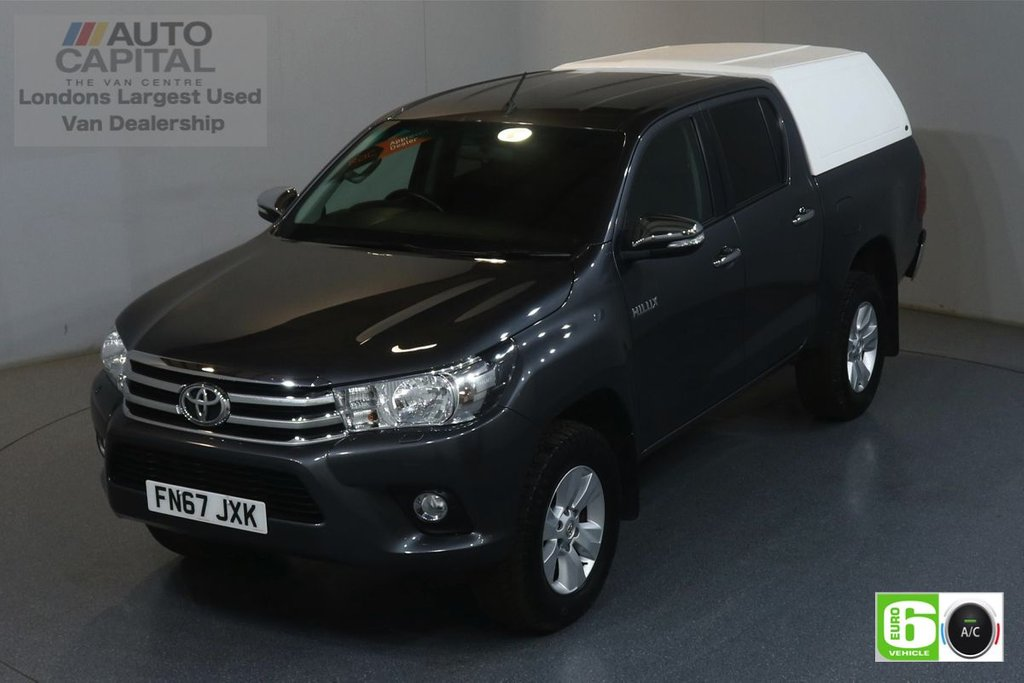 USED 2017 67 TOYOTA HI-LUX 2.4 ICON 4WD D-4D DCB AUTO 148 BHP EURO 6 ENGINE AUTO, AIR CON, REVERSE CAM., ALLOY WHEELS