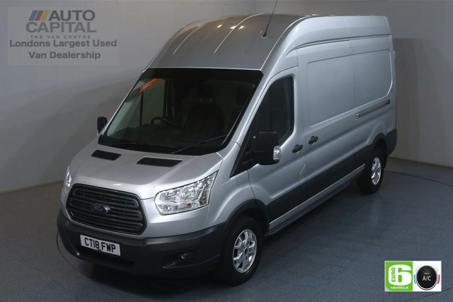 2018 18 FORD TRANSIT 2.0 350 TREND L3 H3 129 BHP EURO 6 ENGINE AIR CON, FRONT- REAR PARKING SENSORS, ALLOY WHEEL