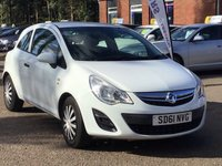 USED 2011 61 VAUXHALL CORSA 1.2 S CDTI ECOFLEX 3d 73 BHP VERY LOW INSURANCE GROUP *  £20 ROAD TAX *  MOT MAY 2020 *  CLIMATE CONTROL *  VERY CHEAP TO RUN *