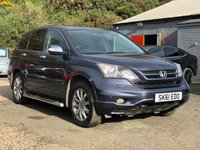 USED 2011 61 HONDA CR-V 2.2 I-DTEC EX 5d 148 BHP NAVIGATION SYSTEM +   LEATHER TRIM +  PAN ROOF +   PRIVACY GLASS +  PARKING AID +  SERVICE RECORD +