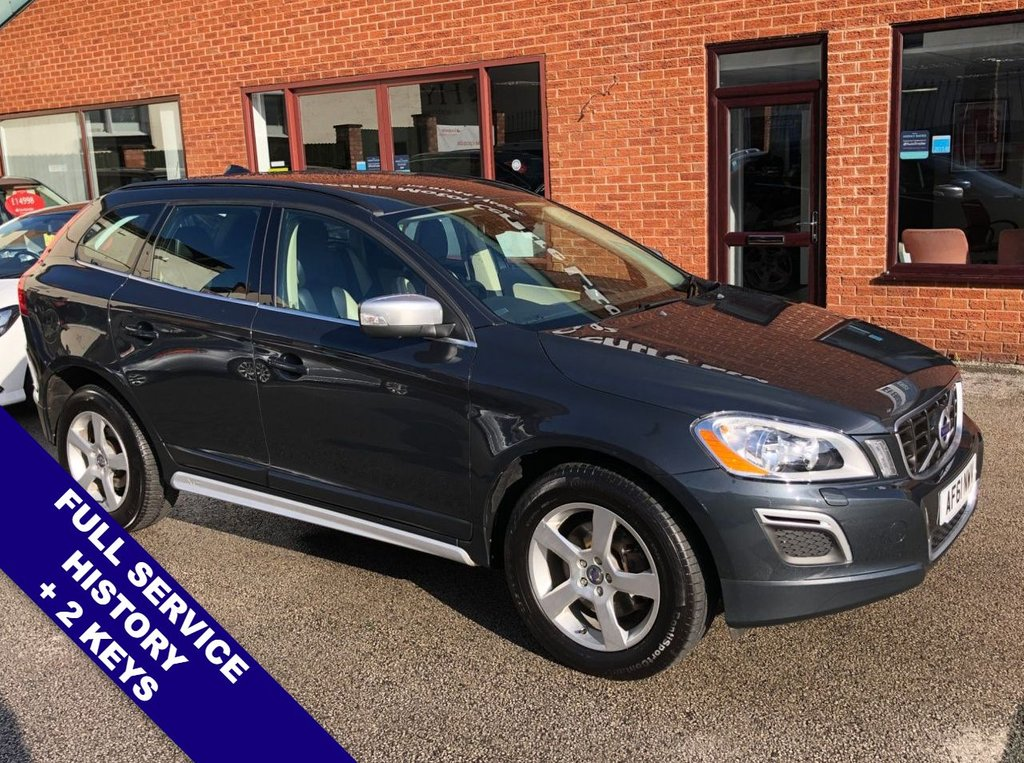 """USED 2011 61 VOLVO XC60 2.4 D5 R-DESIGN AWD 5DOOR AUTO 212 BHP DAB Radio   :   Satellite Navigation   :   USB & AUX Sockets   :   Cruise Control      Phone Bluetooth Connectivity       :       Heated Front Seats       :       Automatic Tailgate          Rear Parking Sensors   :   18"""" Alloy Wheels   :   2 Keys   :   Full Service History"""