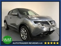 USED 2016 66 NISSAN JUKE 1.6 TEKNA XTRONIC 5d AUTO 117 BHP FULL NISSAN HISTORY - 1 OWNER - SAT NAV - LEATHER - CAMERAS - AIR CON - BLUETOOTH - DAB - CRUISE