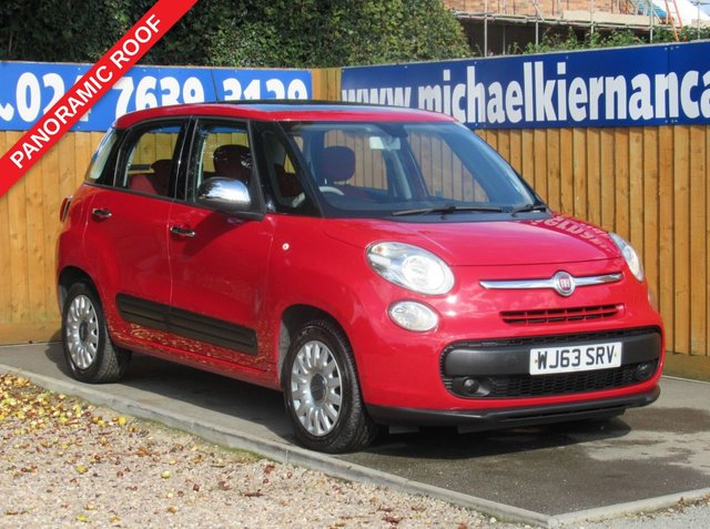 USED 2013 63 FIAT 500L 1.4 EASY 5d 95 BHP FSH,BLUETOOTH,PANORAMIC ROOF