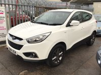 USED 2014 14 HYUNDAI IX35 1.7 S CRDI 5d 114 BHP Probably the best value ix35 in town, white, 45000 miles.