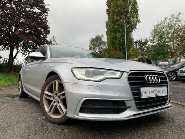 USED 2012 12 AUDI A6 AVANT 2.0 TDI S LINE 5d 175BHP AUTOMATIC LEATHER+CRUISE+ALLOYS+CLIMATE+NAV+CLEAN CAR+NEW GEARBOX+1 OWNER+