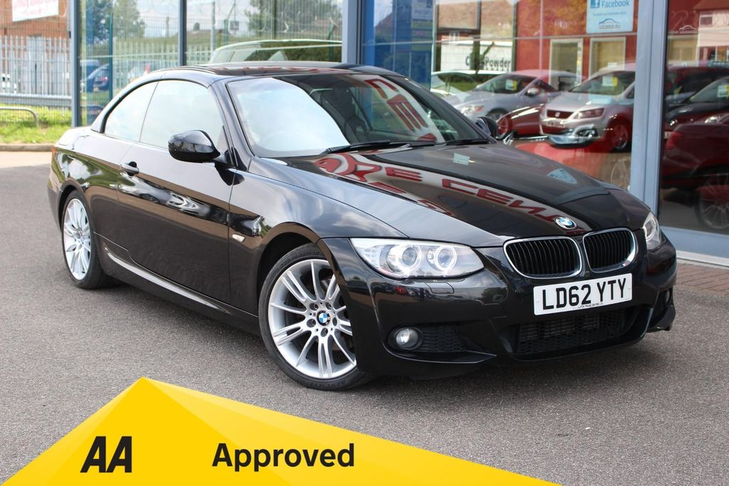 USED 2012 62 BMW 3 SERIES 320D M SPORT 2DR STEP AUTO HTD/LTHER, P/ROOF, XENONS, 18 ALLOYS & BT