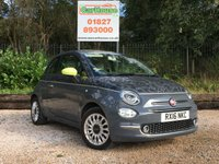 USED 2016 16 FIAT 500 1.2 LOUNGE 3dr £20 Road Tax, 6 Month Warranty