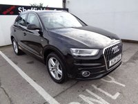 USED 2014 14 AUDI Q3 2.0 TDI S LINE 5d 138 BHP Half Leather Cd Audio Bluetooth Cruise And Climate Control Parking Sensors