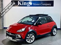 USED 2016 65 VAUXHALL ADAM 1.4 ROCKS AIR 3dr  Electric Soft Top Roof ! Leather, Wi-fi, Nav, 8,721 Miles !!