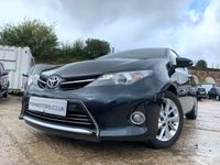USED 2013 63 TOYOTA AURIS 1.4 EXCEL D-4D 5d 89 BHP 20ROADTAX+MEDIA+CAMERA+FOLDMIRRORS+2KEYS+ALLOYS+AIRCON+PARKING+