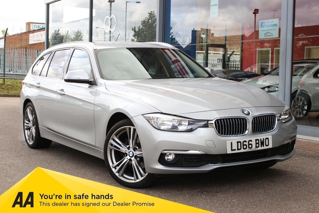 USED 2016 66 BMW 3 SERIES 320D XDRIVE LUXURY 5DR STEP AUTO EURO 6, NAV, LTHER, E/TAILGATE, DAB & BT