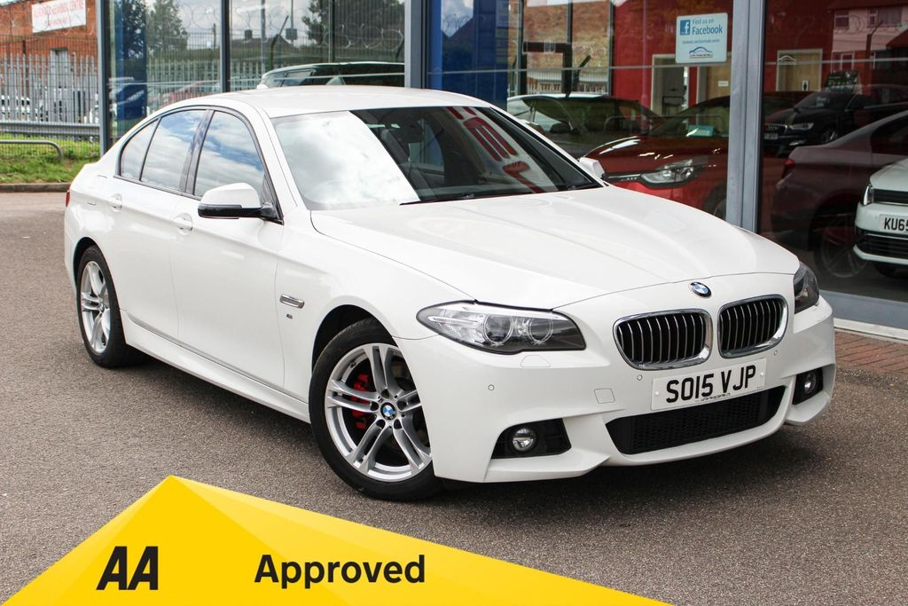 USED 2015 15 BMW 5 SERIES 520D [190] M SPORT 4DR STEP AUTO £30 TAX, NAV, LTHER, XENONS & EURO 6