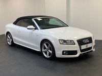 USED 2010 10 AUDI A5 CABRIOLET 2.0 TDI S LINE 2d 170 BHP SERVICE HISTORY + WHITE + LOW MILES + FINANCE AND PART EX WELCOME