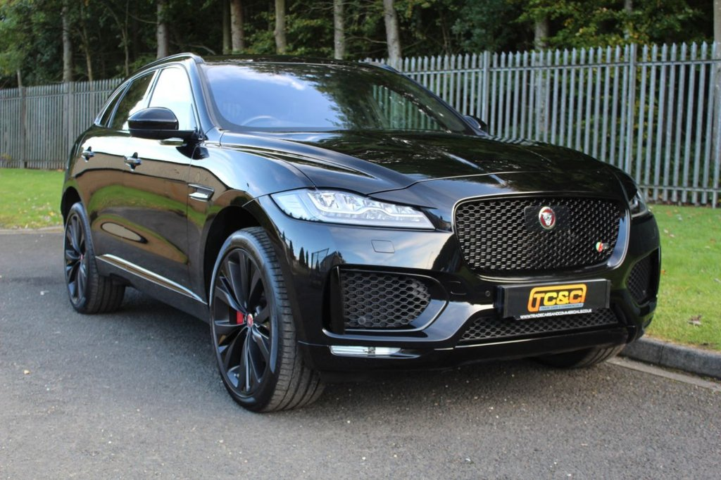 USED 2016 66 JAGUAR F-PACE 3.0 V6 S AWD 5d AUTO 296 BHP A GREAT LOOKING CAR WITH HIGH SPECIFICATION, LOW OWNERS AND FULL HISTORY!!!