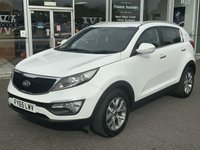 2015 KIA SPORTAGE 1.7 CRDI AXIS EDITION ISG 5 DOOR SAT NAV 1/2 LEATHER 114 BHP £10490.00