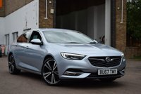 """USED 2017 67 VAUXHALL INSIGNIA 2.0 GRAND SPORT ELITE NAV 5d 168 BHP Top specification new shape 2017 Vx Insignia 2.0 Turbo D ELITE 5dr in a stunning pale blue metallic with a black full leather interior. UPGRADED 20"""" ALLOY WHEELS, 2 MAIN DEALER SERVICES, 2 KEYS."""