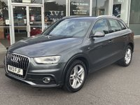 2013 AUDI Q3 2.0 TDI QUATTRO S LINE 5 DOOR SAT NAV FULL LEATHER138 BHP £11490.00