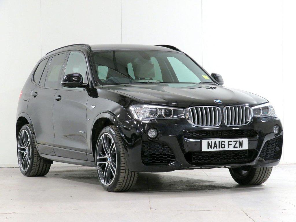 "USED 2016 16 BMW X3 3.0 xDrive35d M Sport PLUS Auto [£4,170 OPTIONS] PRONAV CAMERA HARMAN 20"" XENON"