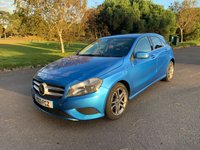 USED 2013 13 MERCEDES-BENZ A CLASS 1.5 A180 CDI BLUEEFFICIENCY SPORT 5d 109 BHP LOOKS PERFECT IN SOUTH SEA BLUE MET 2 OWNERS FSH SPORT PACK