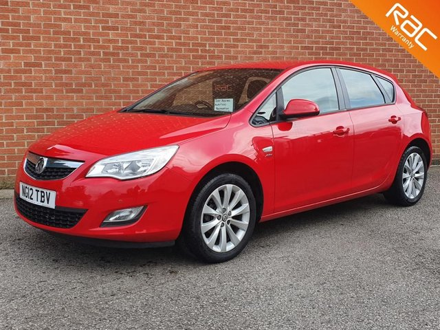 2012 12 VAUXHALL ASTRA 1.4 ACTIVE 5d