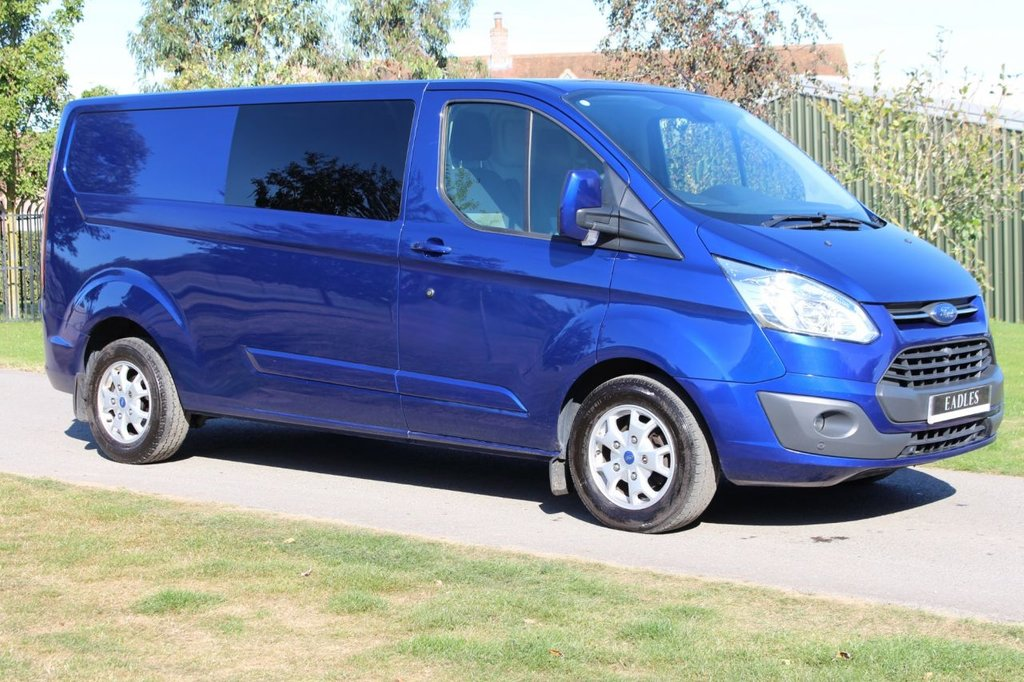 USED 2014 64 FORD TRANSIT CUSTOM 2.2 290 LIMITED LR P/V 124 BHP ** NO VAT ** Save 20% - LIMITED - WARRANTY