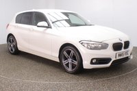 USED 2015 15 BMW 1 SERIES 2.0 118D SPORT 5DR 147 BHP FULL BMW SERVICE HISTORY + £20 12 MONTHS ROAD TAX + PARKING SENSOR + BLUETOOTH + CRUISE CONTROL + AIR CONDITIONING + MULTI FUNCTION WHEEL + DAB RADIO + ELECTRIC WINDOWS + RADIO/CD/AUX/USB + ELECTRIC MIRRORS + 17 INCH ALLOY WHEELS