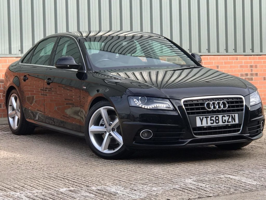 USED 2009 58 AUDI A4 1.8 TFSI S LINE 4d 120 BHP FANTASTIC ONE OWNER, LOW MILEAGE EXAMPLE